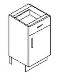 1 Drawer 1 Door Base Cabinet