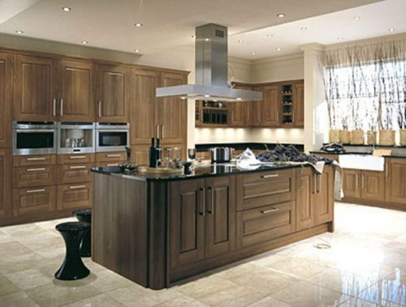 Red oak entertainment cabinets from china kitchen cabinets for Chinese kitchen cabinets