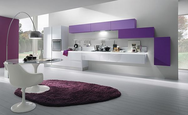 Colorful Kitchen Cabinet