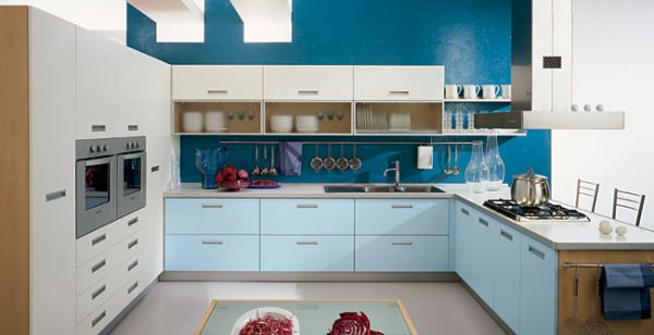 European Lacquer Kitchen Cabinet