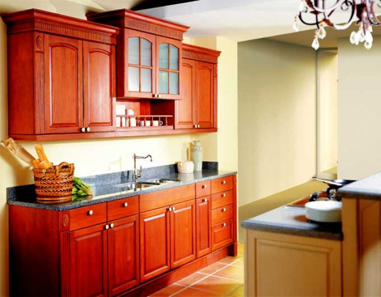 Solid Wood Kitchen Cabinet Armstrong